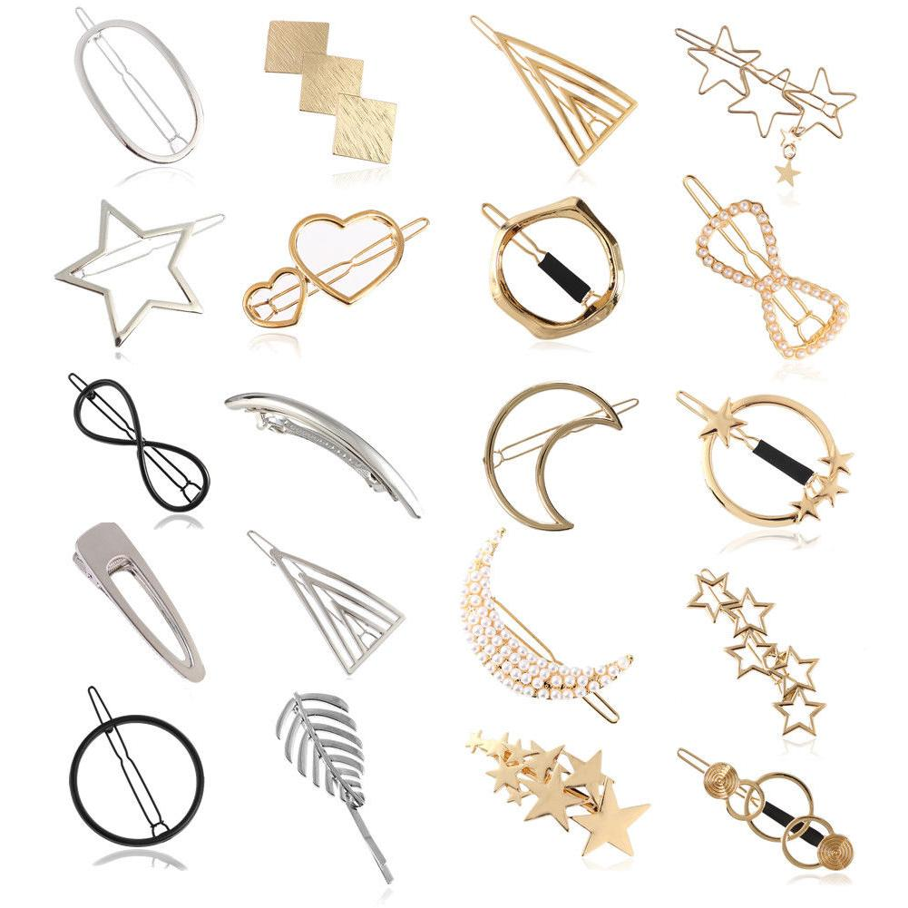 women girls korean star hair clip snap