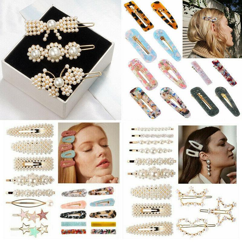 4Pcs Women Acrylic Hair Clips Stick Hairpin Hair