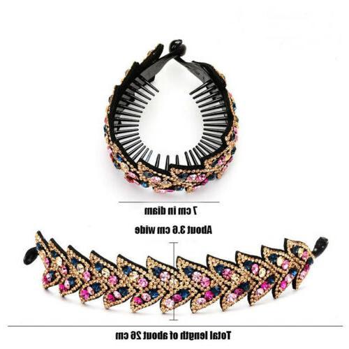 Women Hair Claw Ponytail Bun Holder Hair Comb Hairpin Decor