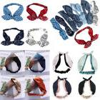 Women Ladies Bowknot Elastic Hair Band Hair Ties Knot Cross