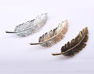 Women Leaf Hair Barrette Pins