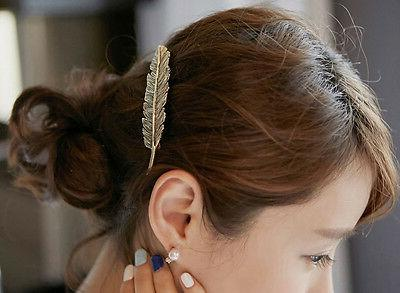 Women Leaf Hair Pin Jewelry Women Vintage Hair Bobby Pins