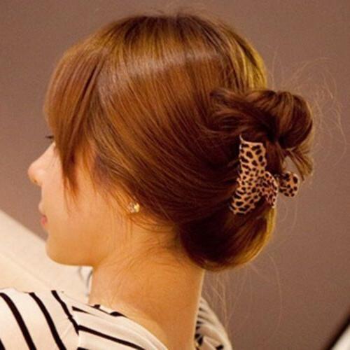 Women Leopard Hair Claws Clamp Hair Claw Hairpin