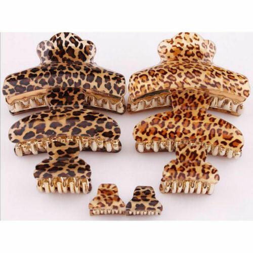 Women Leopard Hair Clamp Accessories Clip