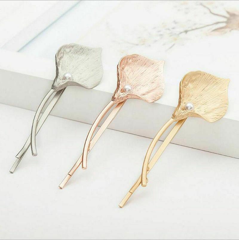 fashion women s accessories metal leaf hairpin