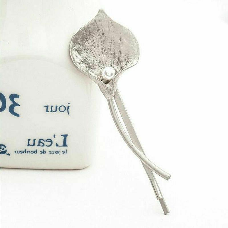 Fashion Accessories Metal Leaf Hairpin Barrettes