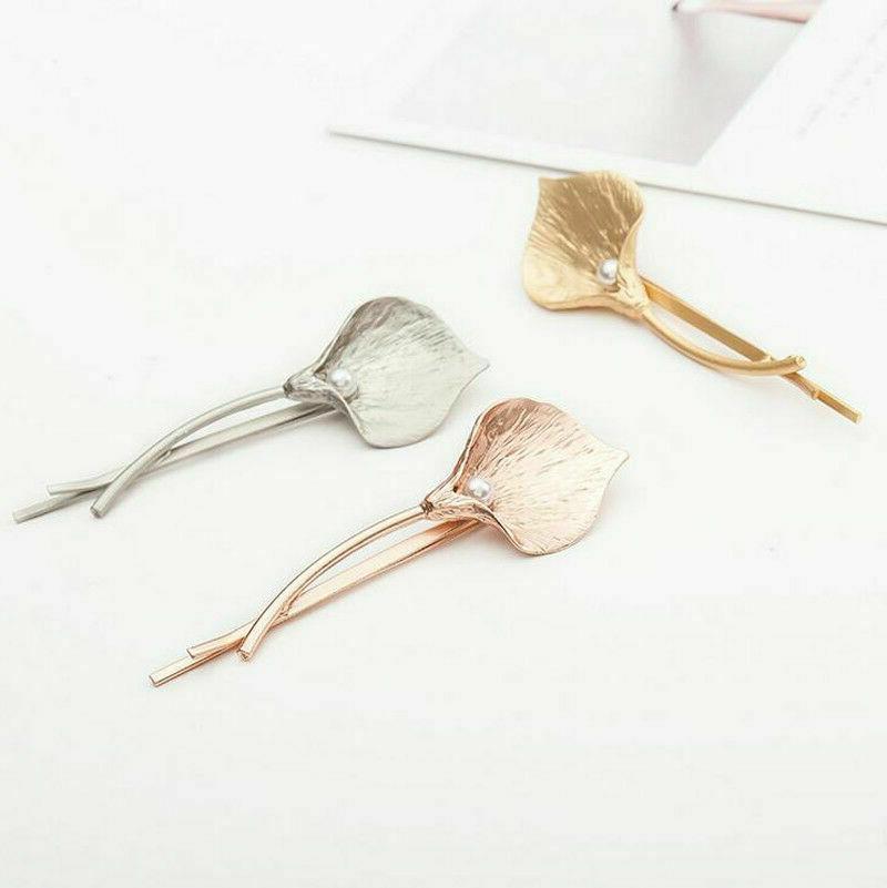 Fashion Accessories Leaf Hair Barrettes Pearl