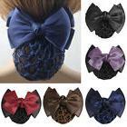 Women Pro Bow Barrette Hair Clip Cover Bowknot Bun Snood Hai