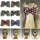 Women's Chic Stretch Rose  Bow Beaded Hair Comb Cuff Double