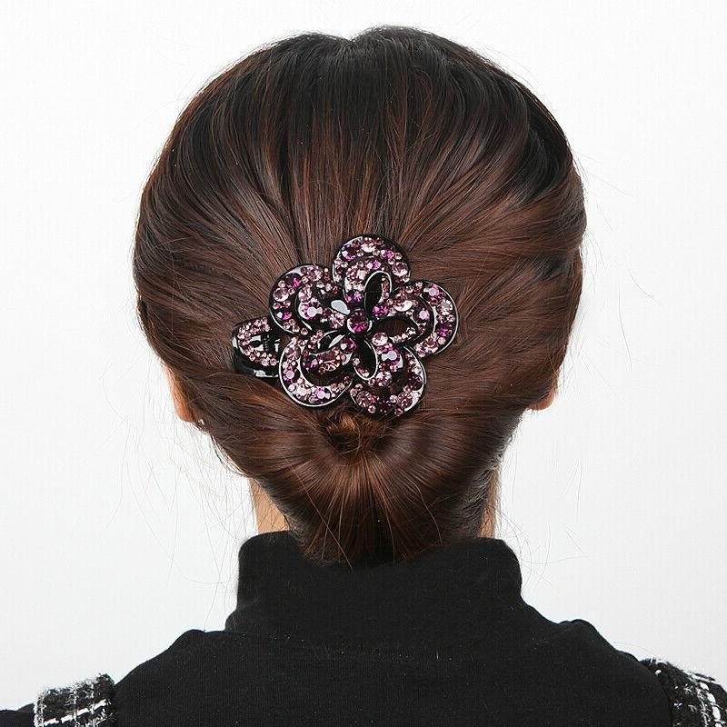 Women's Crystal Hair Slide Comb Hair Grips