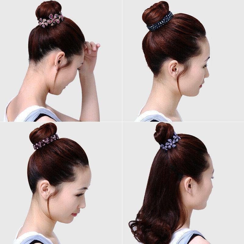 Women's Crystal Hair Clips Bun Hair