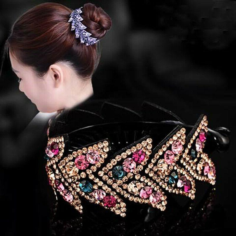 women s crystal rhinestone flower hair clips