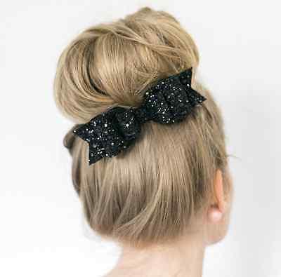 Women's Girl Big Bowknot Barrette Hairpin Hair HOT CA