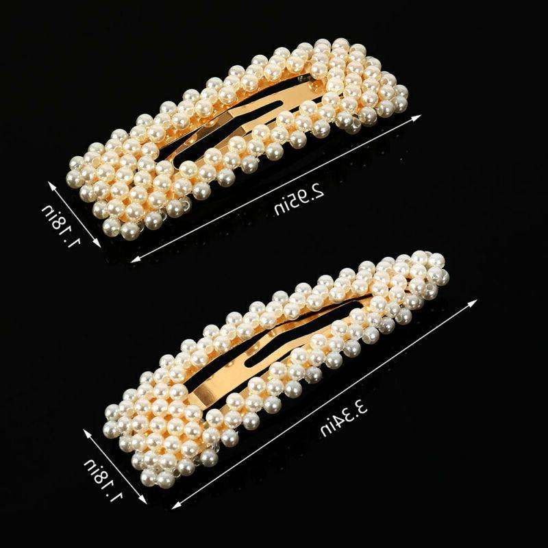 Women's Girls Hair Clip Slides Barrette Clips