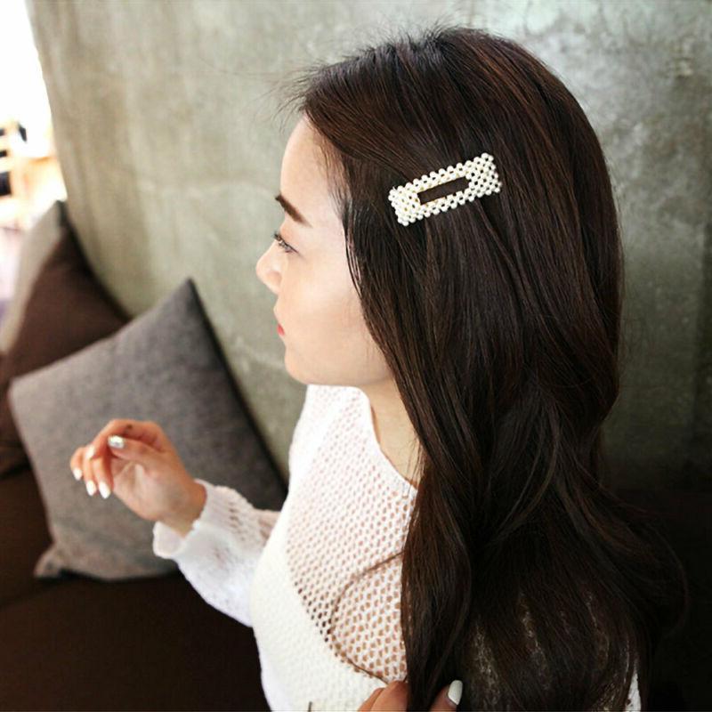 Women's Girls Pearl Hair Clip