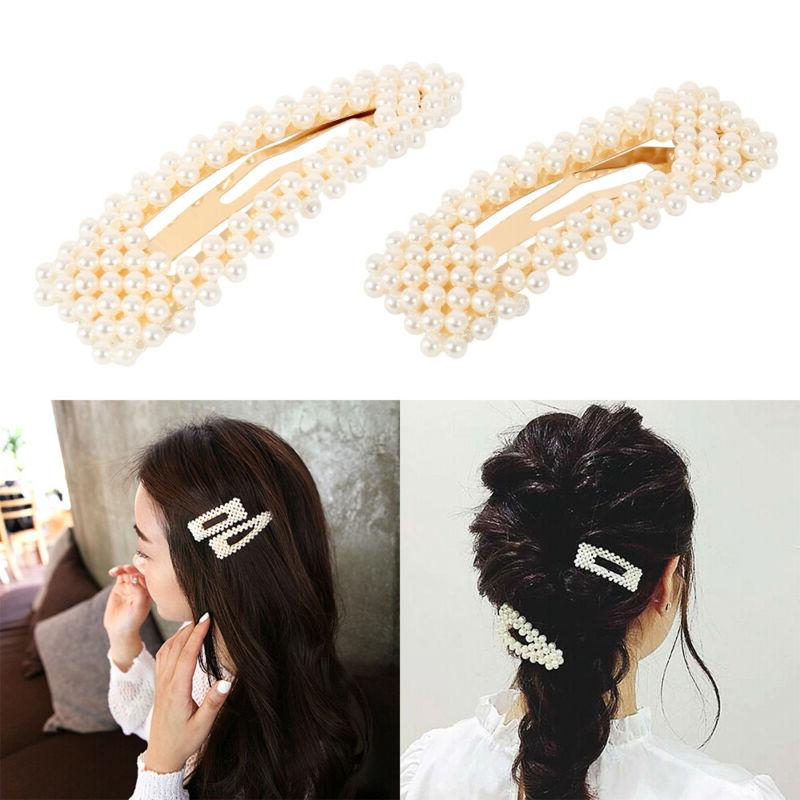 women s girls pearl hair clip hairpin