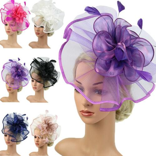 Women's Accessory Feather Mesh Party Hat
