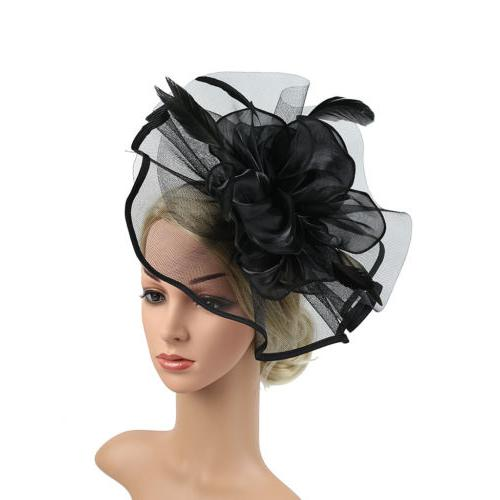 Women's Feather Party Fascinator Hat