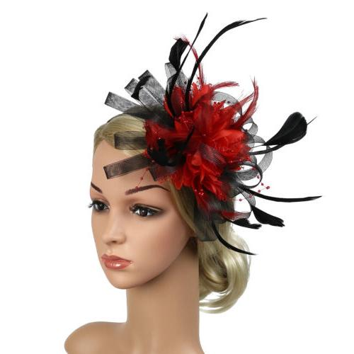 Women's Accessory Feather Wedding Bridal Party Fascinator