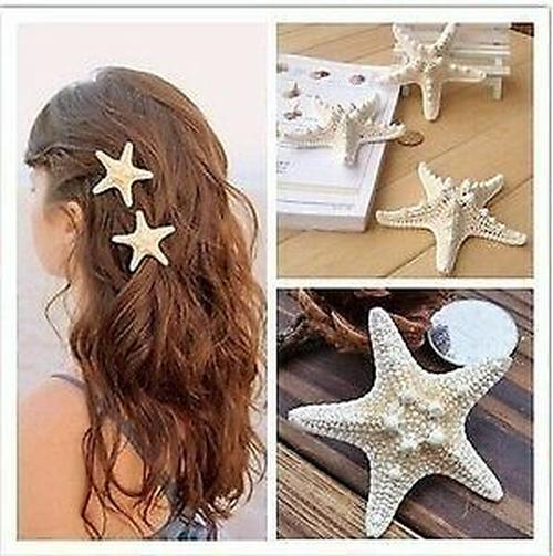 women s starfish hair clip beach barrettes
