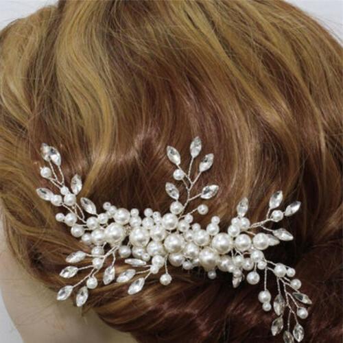 Women's Wedding Jewelry Clip Flower Tiara