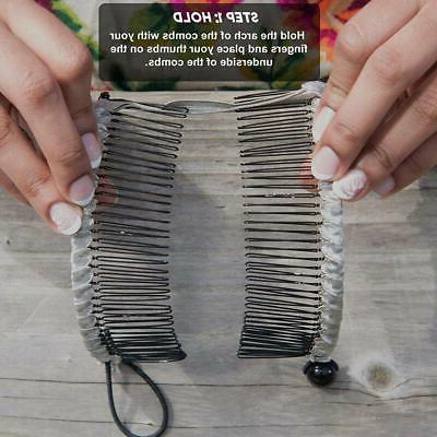 Clip Hair Stretchable Banana Comb