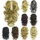 Womens Lady Curly Wavy Short Ponytail Hairpiece Claw Clip-on