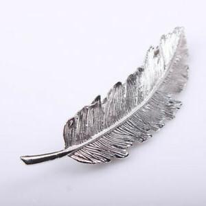 Womens Leaf Feather Clip Girl Pin Fashion
