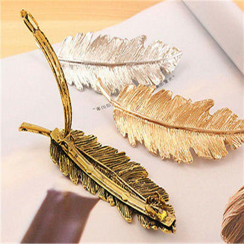 Womens Feather Clip Hairpin Bobby Girl Fashion