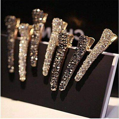 1PC Rhinestone Hair Clip Duckbill Alligator Clip Barrette Ha