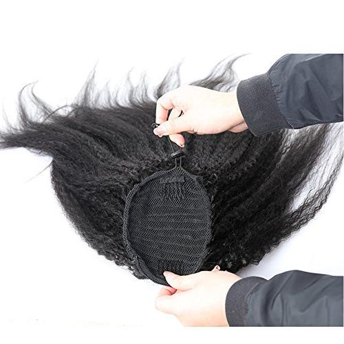 Wrap Straight Extensions Italian Yaki Coarse Clip Human Hair for Women 100g/pcs