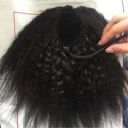 Wrap Afro Kinky Straight Extensions Coarse Top Closure Clip Hair Women 100g/pcs