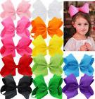 X-Large 8 INCH Boutique Grosgrain Ribbon Hair Bows Alligator