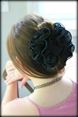 Large Chiffon Claw Clip Hair Bow for Women and Girls | Claw