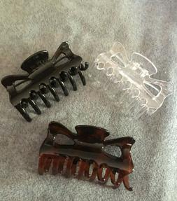 Goody Large Claw Hair Clips, 3/Pack, NEW without packaging,