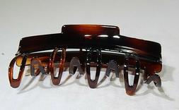 Large Patentskip Brown Hair Claw Clip with Teeth by Caravan