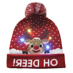Ugood LED Light-up Knitted Ugly Sweater Holiday Xmas Christm