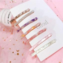 Long Colorful Grain Hairpin Barrettes Acetic Acid Stone Hair