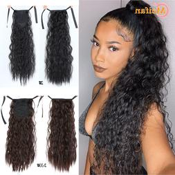 MEIFAN Long Corn Curly Ponytail Synthetic <font><b>Hair</b><