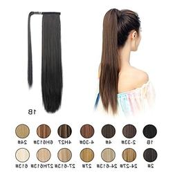 "BARSDAR 26"" Long Straight Wrap Around Synthetic Ponytail Cli"