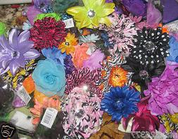 Lot of 24  mixed  flowers on alligator clip for crafts hair