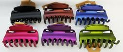"""LOT OF 6 LARGE 3.5"""" HAIR JAW CLIP CLAW HOLDER TIE METALLIC F"""