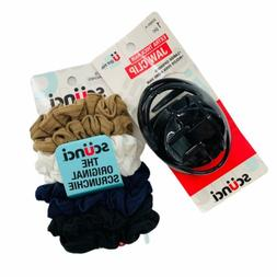 Lot of Scunci Scrunchies & Jaw Clip For Extra Thick Hair, Ne