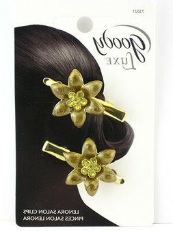GOODY LUXE LENORA SALON HAIR CLIP - 2 PCS. - GOLD