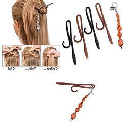 CCbeauty Magic TWIST N CLIP For Women Hair, 4 Hairpin Clips