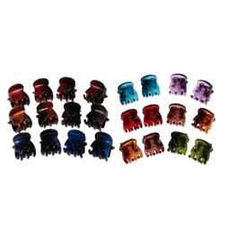 MagiDeal 24Piece Small Hair Claws Clip Clamp Hair Grips for