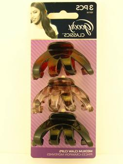 GOODY MEDIUM CLAW HAIR CLIPS - 3 PCS.