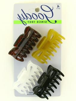 medium claw hair clips 4 pcs 76015