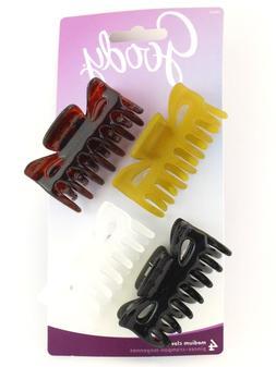 GOODY MEDIUM CLAW HAIR CLIPS - 4 PCS.