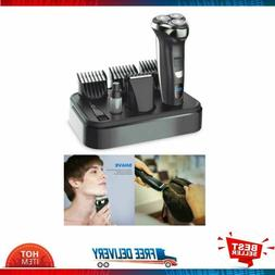 Men's Electric Razor Waterproof Hair Clippers Shaver Cordles
